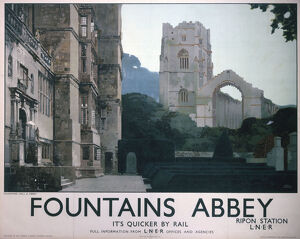 'Fountains Abbey ', LNER poster, 1927.