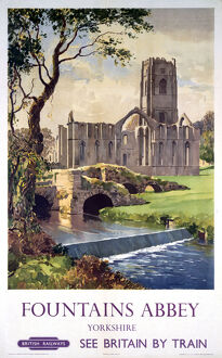 'Fountains Abbey, Yorkshire', BR (NER) poster, 1956.