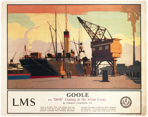 'Goole - SS 'Don' Coaling at the 40-ton Crane', LMS poster 1923-1947.