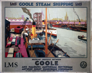 'Goole Steam Shipping', LMS poster, 1923-1947.