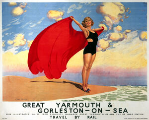 'Great Yarmouth & Gorleston-on-Sea', LMS and LNER poster, 1923-1947