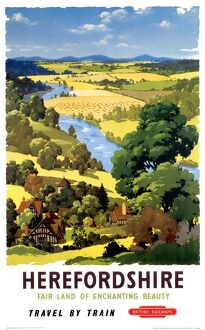 'Herefordshire', BR poster, 1960.