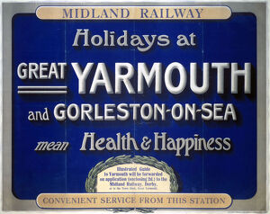 'Holidays at Great Yarmouth and Gorleston-on-Sea', MR poster, 1923-1947.