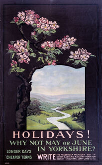 'Holidays! Why not May or June in Yorkshireja', NER poster, 1900-1922.
