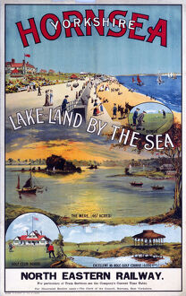'Hornsea, Yorkshire - Lakeland by the Sea', NER poster, c 1910s.