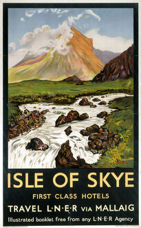 'Isle of Skye - First Class Hotels', LNER poster, 1923-1947.