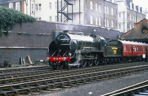 This King Arthur class locomotive was designed by Maunsell for Southern Railways