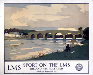 LMS poster. Sport on the LMS - Ireland via