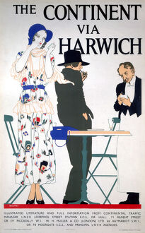 LNER poster. The Continent via Harwich by