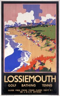'Lossiemouth,' LNER poster, c 1920s.