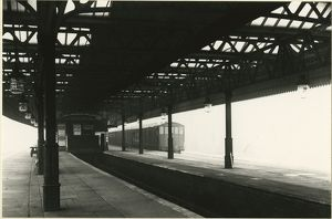 Low Moor station. Lancashire and Yorkshire Railway, 1 November 1906