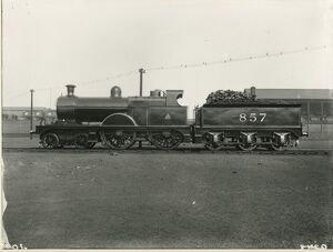 Midland Railway Class 2, 4-4-0 steam locomotive number 495. Specially painted for