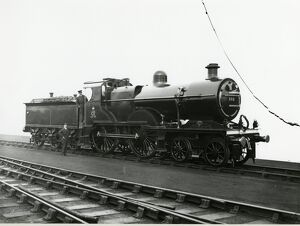 Midland Railway Class 2, 4-4-0 steam locomotive number 336 backhead and controls