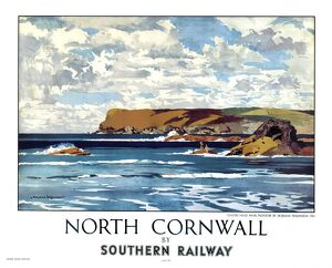 'North Cornwall by Southern Railway', SR poster, 1947.