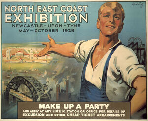 'North East Coast Exhibition', LNER poster, 1929.