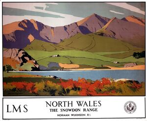 'North Wales - The Snowdon Range', LMS poster, 1923-1947.