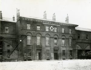 Oldham Road goods depot, Manchester. The former Manchester and Leeds Railway offices