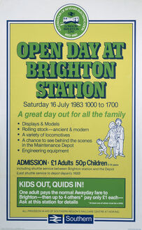 'Open Day at Brighton Station', BR poster, 1983.