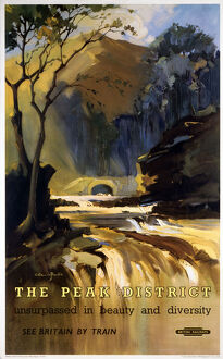 'The Peak District', BR (LMR) poster, 1948-1965.