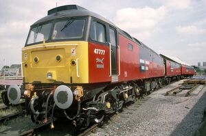Post Office railcar number 47777 on the East Coast Main Line at York, by Chris Hogg
