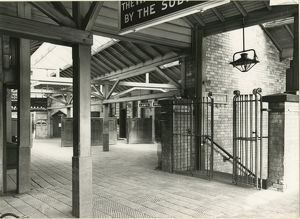 Radcliffe Station. Lancashire & Yorkshire Railway. Inside the station showing the