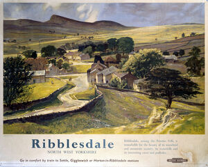 'Ribblesdale', BR(LMR) poster, 1948-1965.
