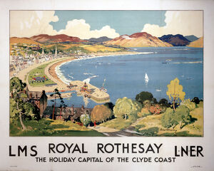 'Royal Rothesay, the Holiday Capital of the Clyde Coast', LMS/LNER poster