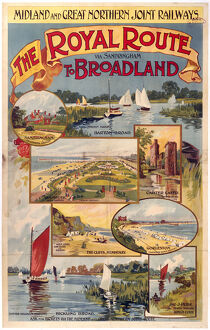 'The Royal Route... to Broadland', M & GNR poster, 1923-1935.
