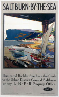 'Saltburn-by-the-Sea', LNER poster, c 1920s.