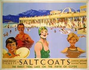 'Saltcoats', LMS poster, 1935.