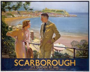'Scarborough - It's Quicker By Rail', LNER poster, 1923-1947.