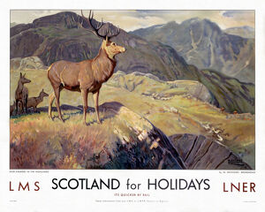 'Scotland for Holidays', LMS/LNER poster, 1923-1947.