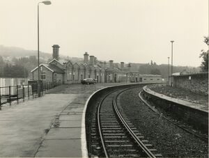 Shipley station, British Rail, August 1987