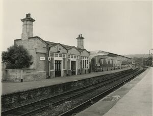 Shipley station, British Rail, July 1985