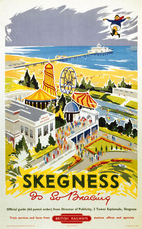 'Skegness is So Bracing', BR (ER) poster, 1956.