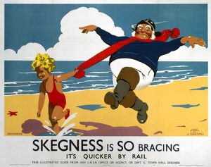 'Skegness is so Bracing', LNER poster, 1933.
