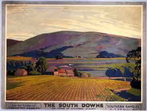 'The South Downs', SR poster, c 1930s.