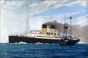 'Steamer Passing Kish Lightship between Dublin and Holyhead', c 1935.