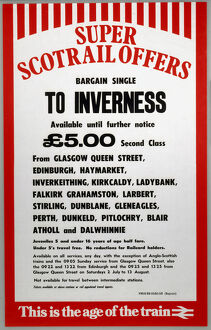 'Super Scotrail Offer - Bargain Single to Inverness', 1983.