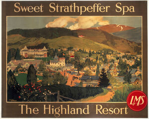 'Sweet Strathpeffer Spa, the Highland Resort', LMS poster, c 1920s.