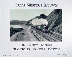 'The Torbay Express', GWR poster, c 1920s.