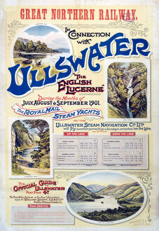 'Ullswater - The English Lucerne', GNR poster, 1901.