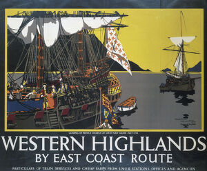 ''Western Highlands by East Coast Route', LNER poster, 1939.