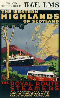 The Western Highlands of Scotland', LMS poster, c 1920s.