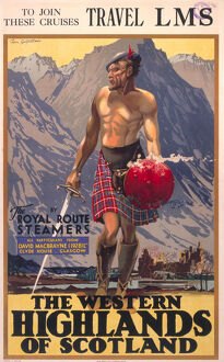 'The Western Highlands of Scotland', LMS poster, c 1930s.
