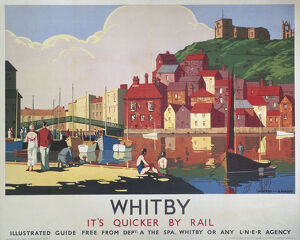 'Whitby: It's Quicker By Rail', LNER poster, 1930s.