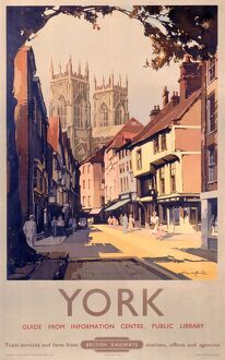 'York', BR poster, 1950s.