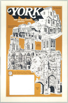 'York - Part of our National Heritage', BR poster c1970s.