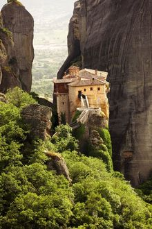 Greek Orthodox Roussanou Monastery, Meteora Mountains, Greece