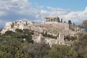 Acropolis Citadel in the Sun, Athens Greece